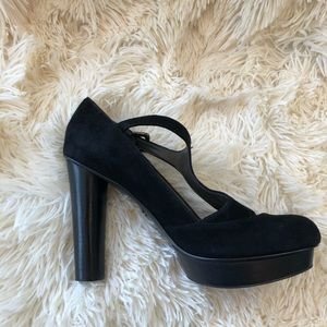Makowdky Black Strappy High Heels